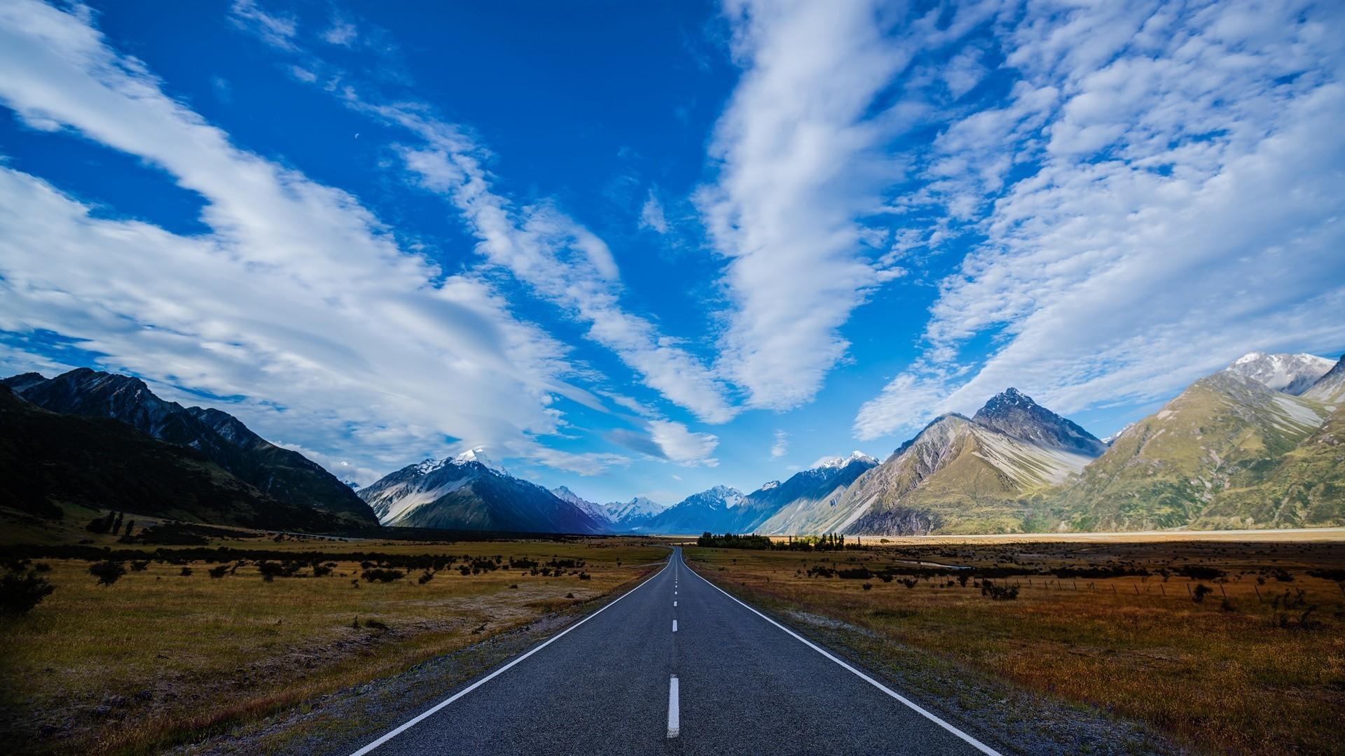 … Background Full HD 1080p. Wallpaper road, mountain, marking
