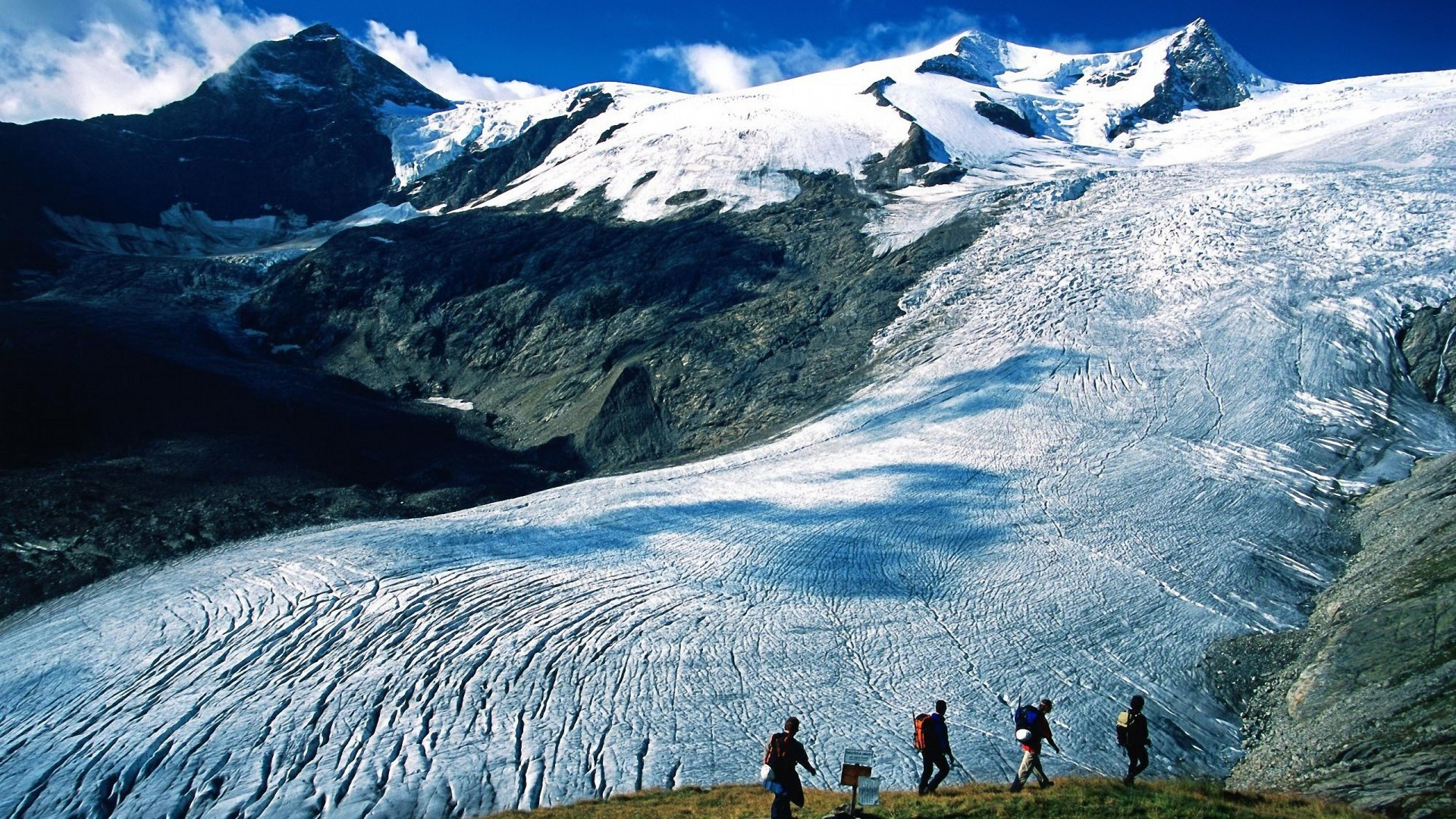 … Background Full HD 1080p. Wallpaper mountains, snow,  avalanche, travel, expedition