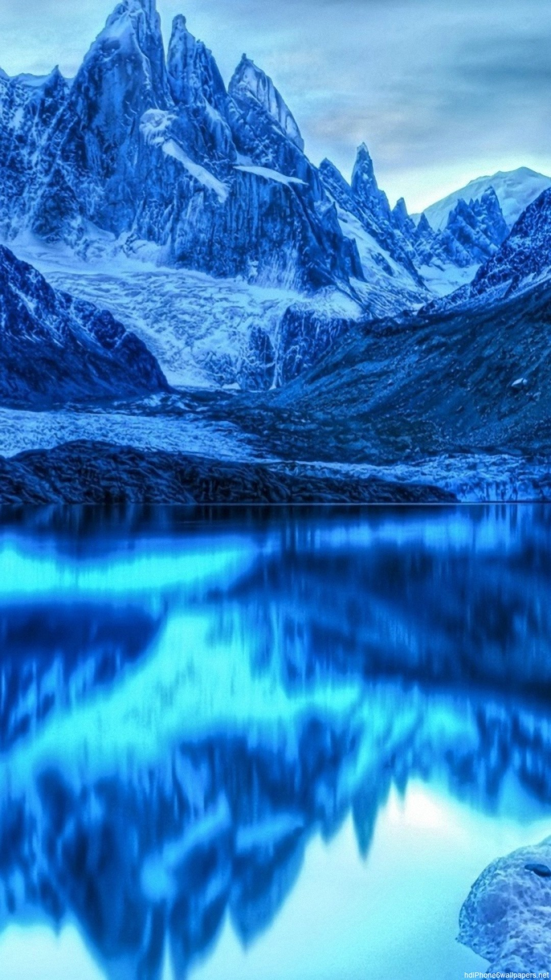 snow mountain reflection iPhone 6 wallpapers HD – 6 Plus  backgrounds