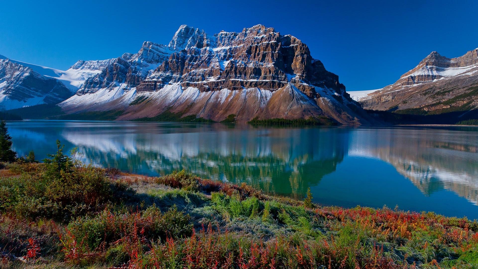 … Background Full HD 1080p. Wallpaper mountains, nature, river,  grass, beautiful landscape