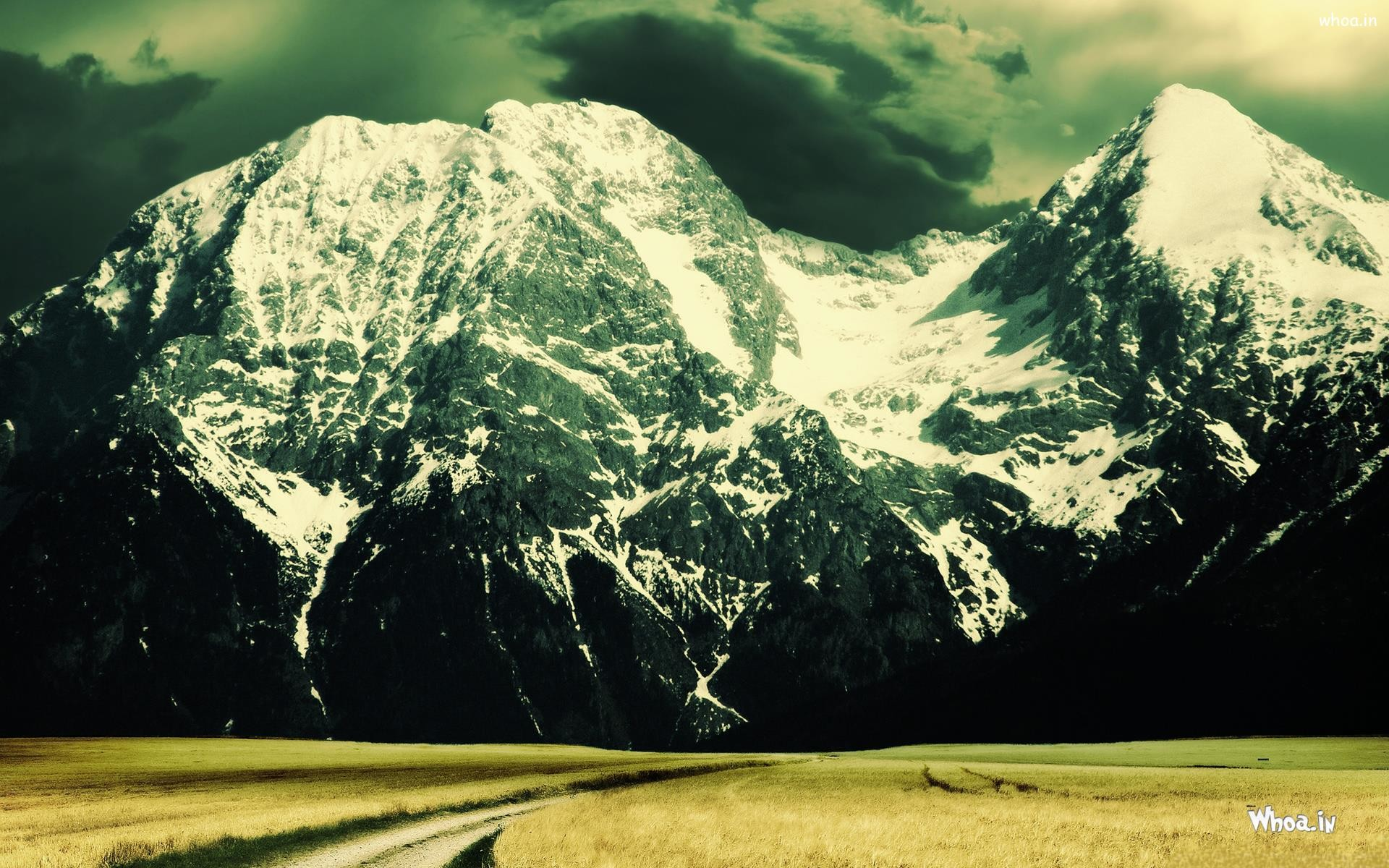 natural snow mountain HD 1080p X 720p desktop wallpaper