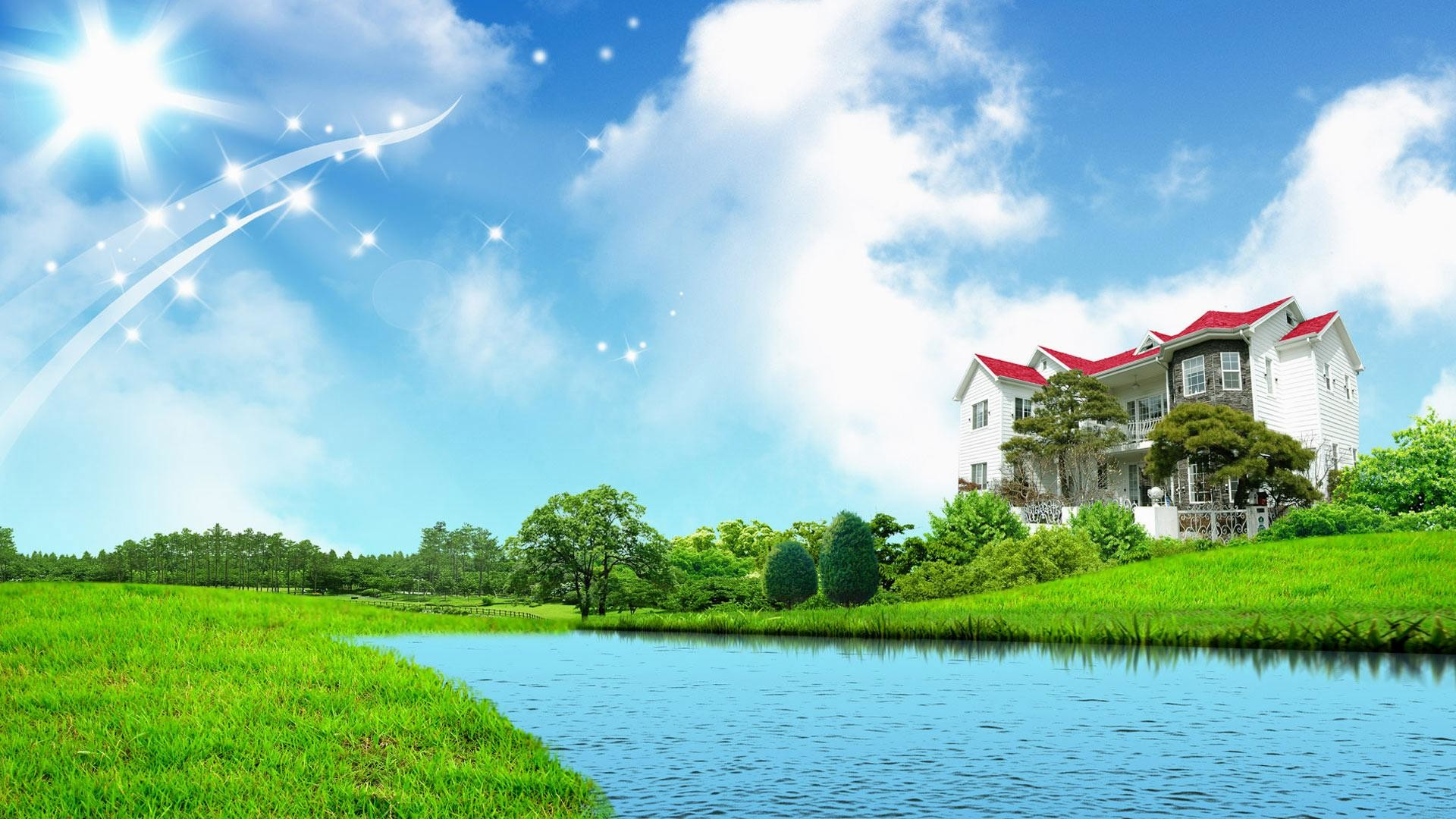 wallpaper.wiki-Sweet-home-fantasy-green-nature-wallpapers-