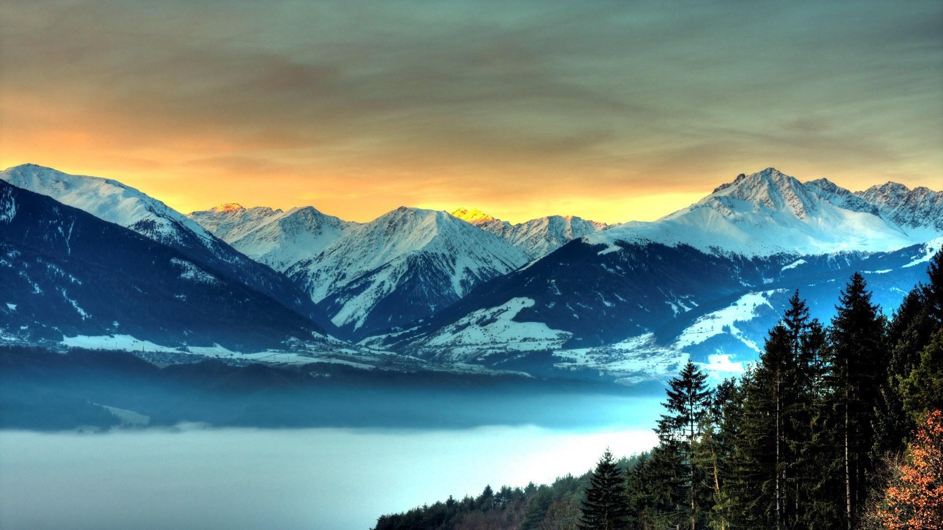 465337 Beautiful-Snowy-Mountain-Wallpaper-HD …