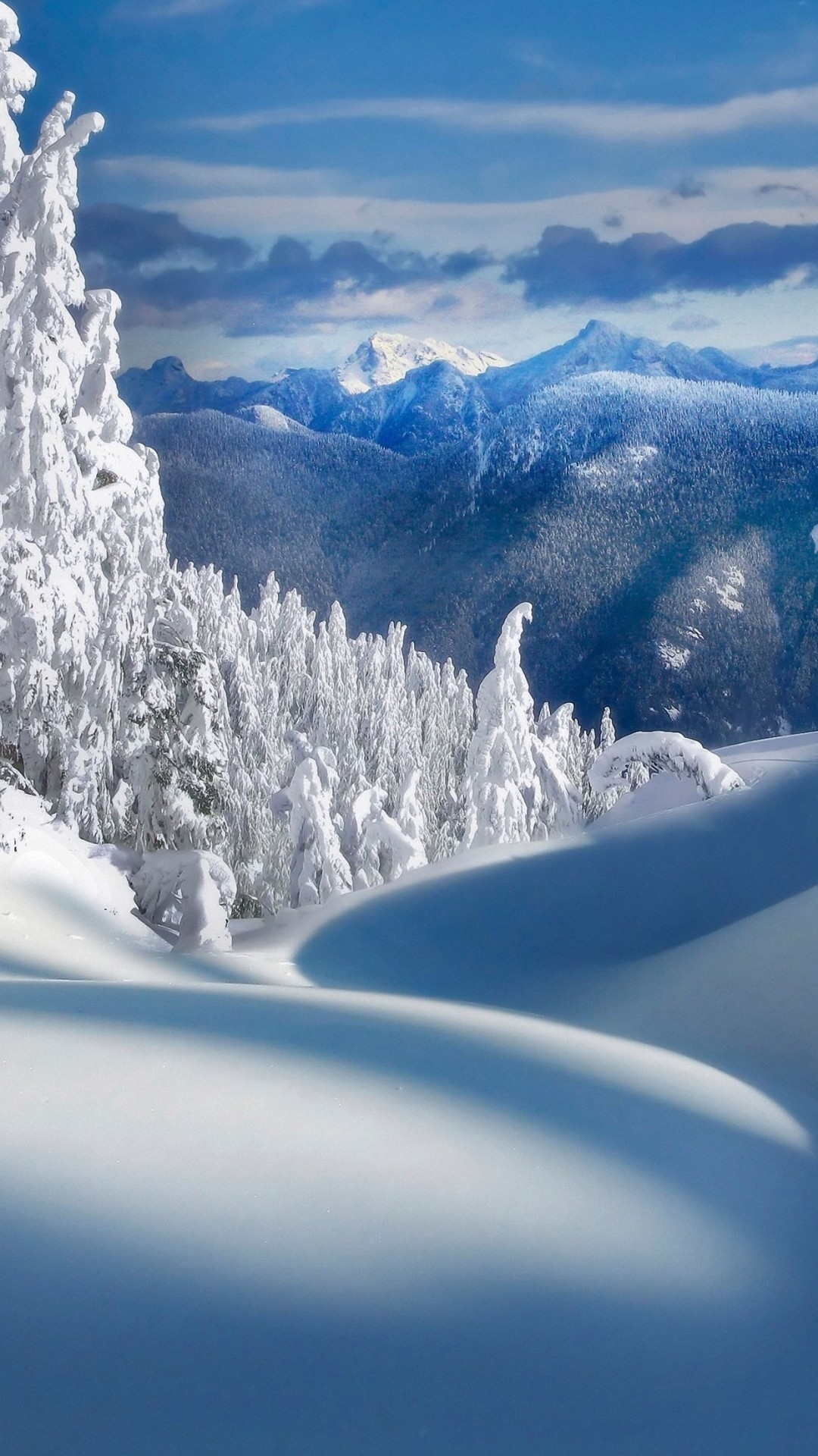 HD nature winter snow wallpaper for iPhone 6 / 6s / plus