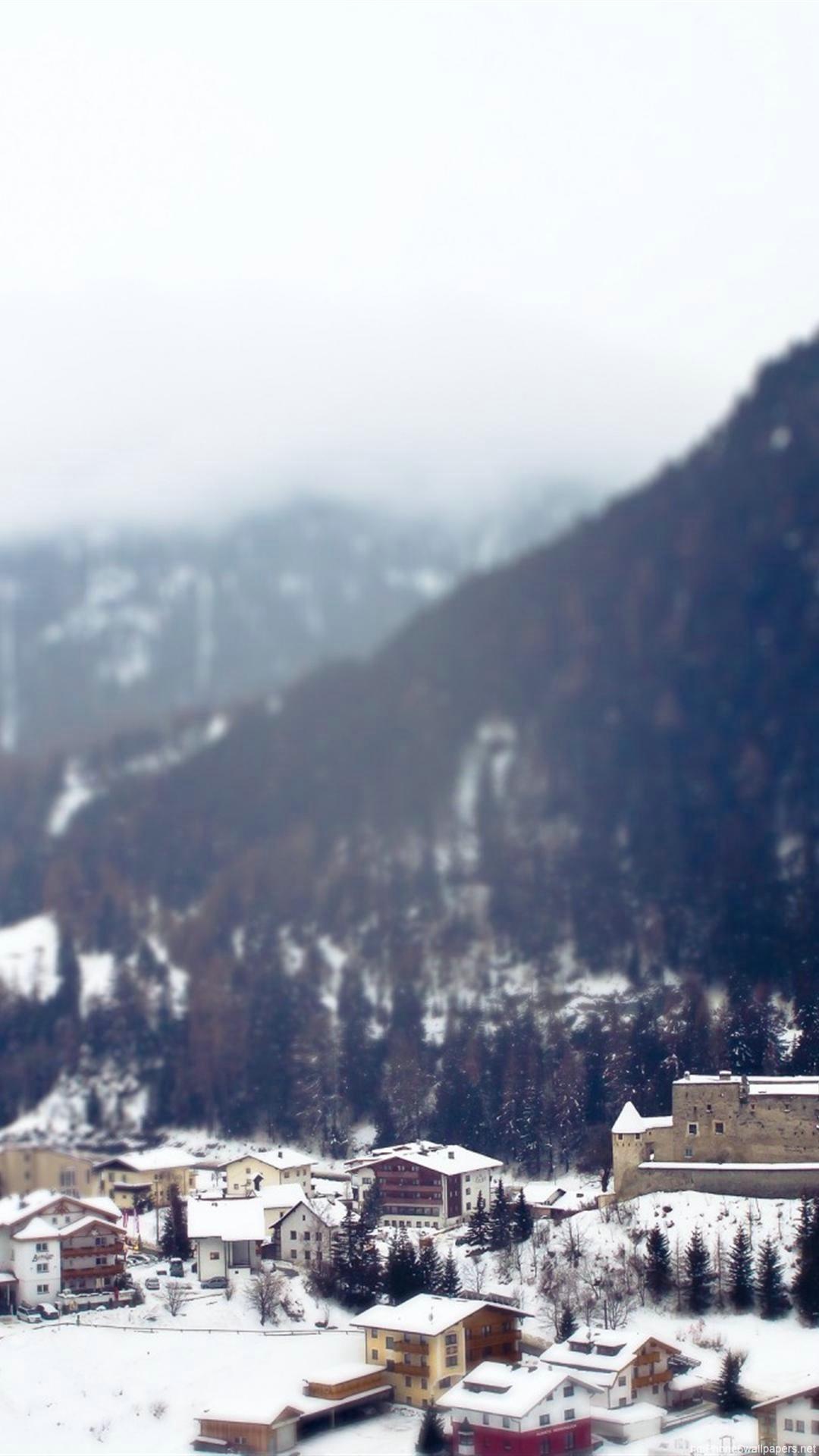 HD travel mountain winter snow iphone 6 wallpaper
