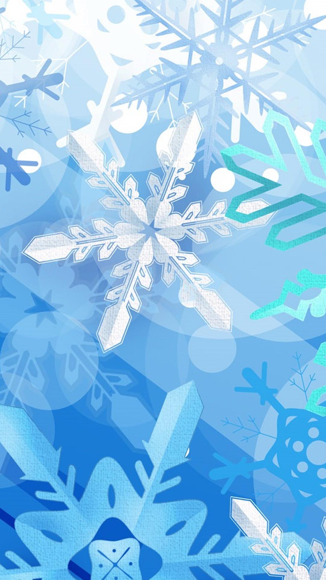winter-blue HD Wallpaper iPhone 6 plus