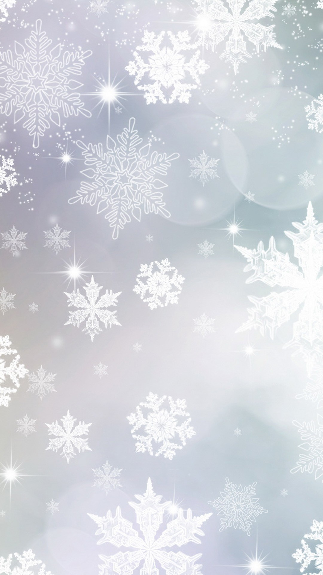 light blue and purple snowflakes Christmas iPhone 6 plus wallpaper