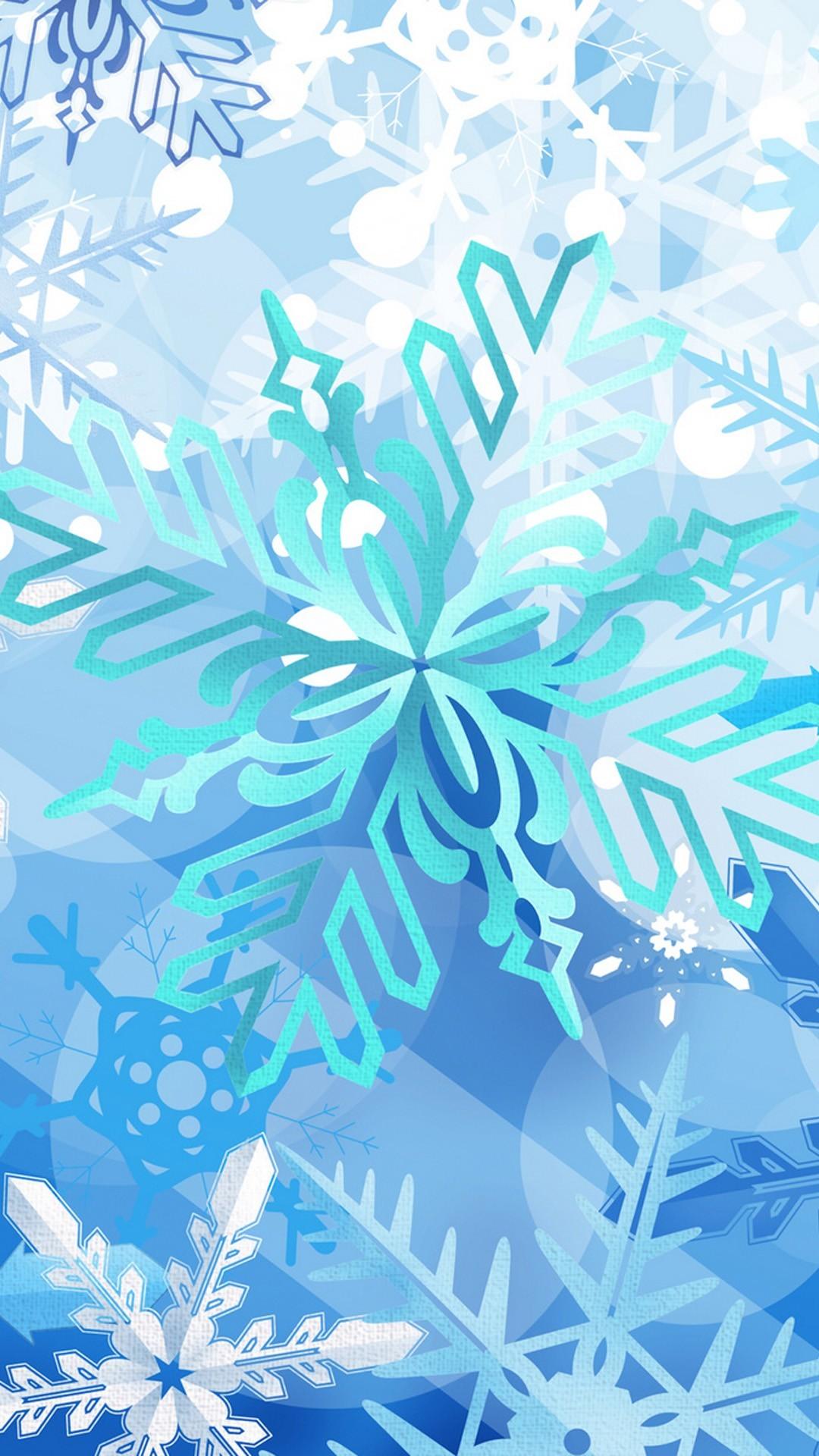 snowflakes Christmas iPhone 6 plus wallpaper