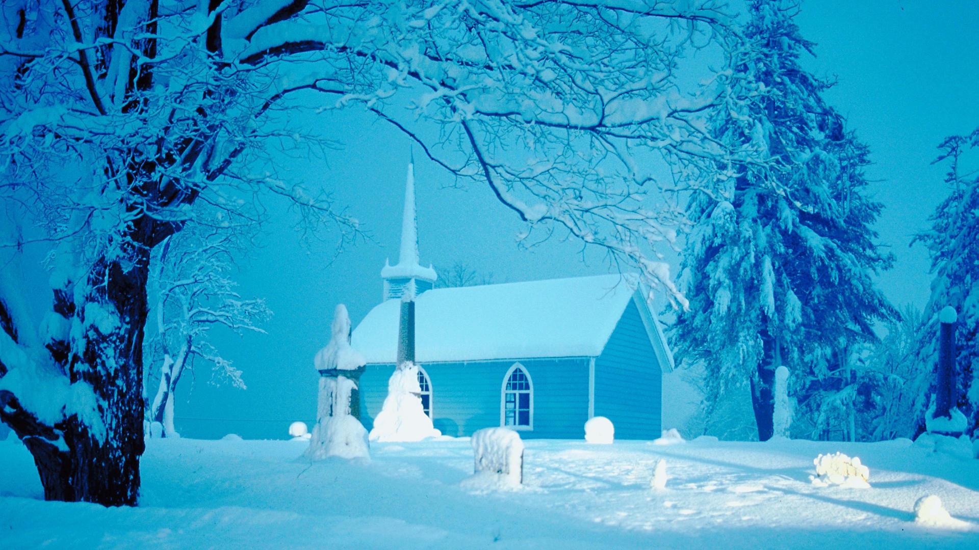 Snowy Winter Scenes Wallpaper | … Snowy Scene, It Looks Amazing Overall –