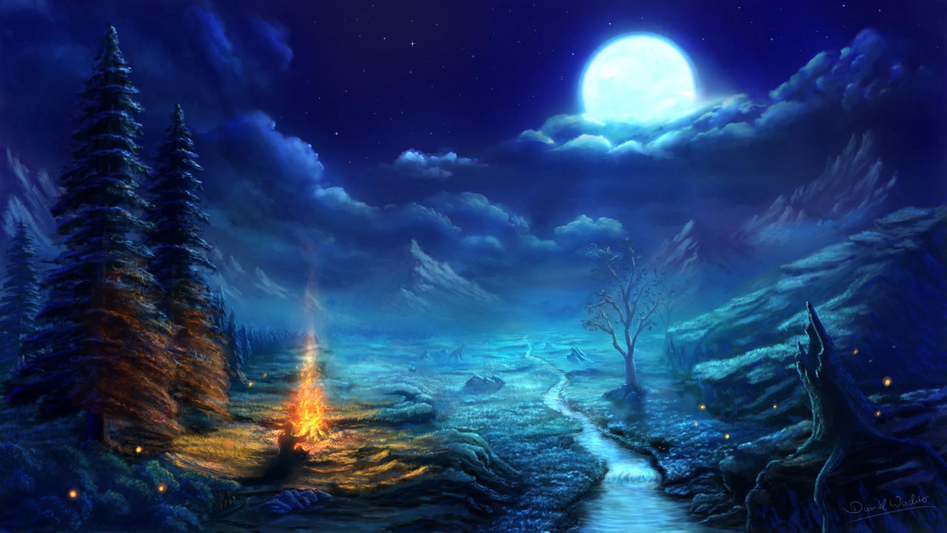 Anime Night Scene Wallpaper Amazing Resolution #o3306r3s