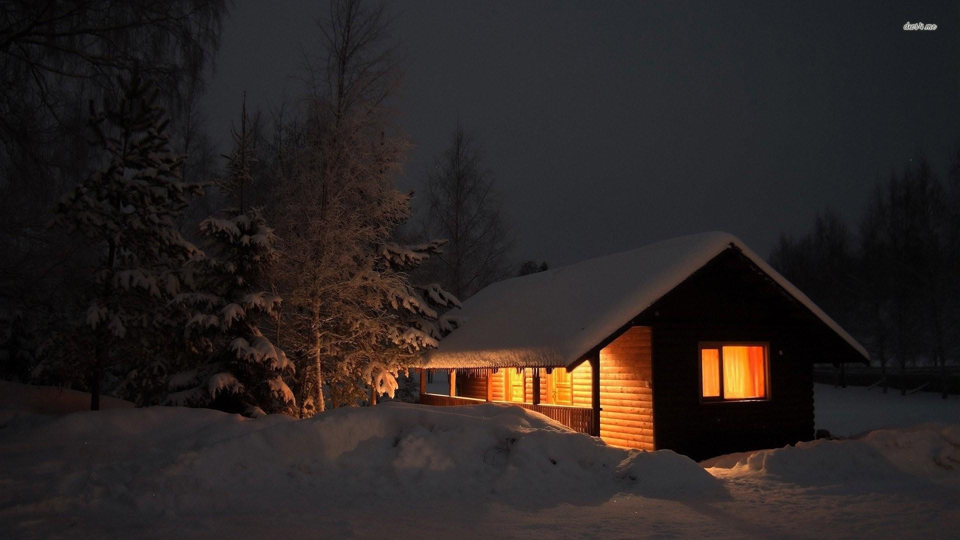 Snowed In Cabin Wallpaper » WallDevil – Best free HD desktop and .