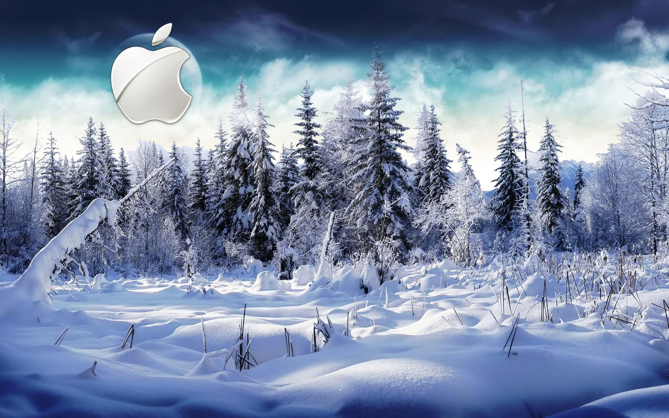Desktop Wallpaper · Gallery · Computers · Winter Apple Mac .