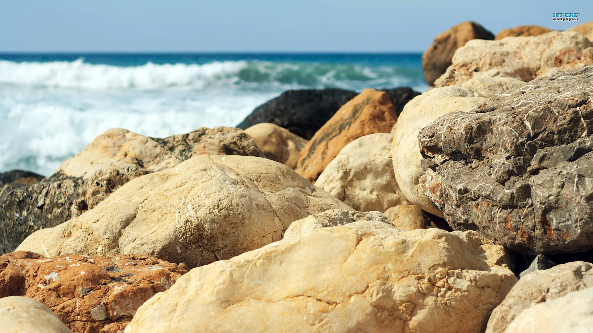 Beach Rocks Wallpaper HD