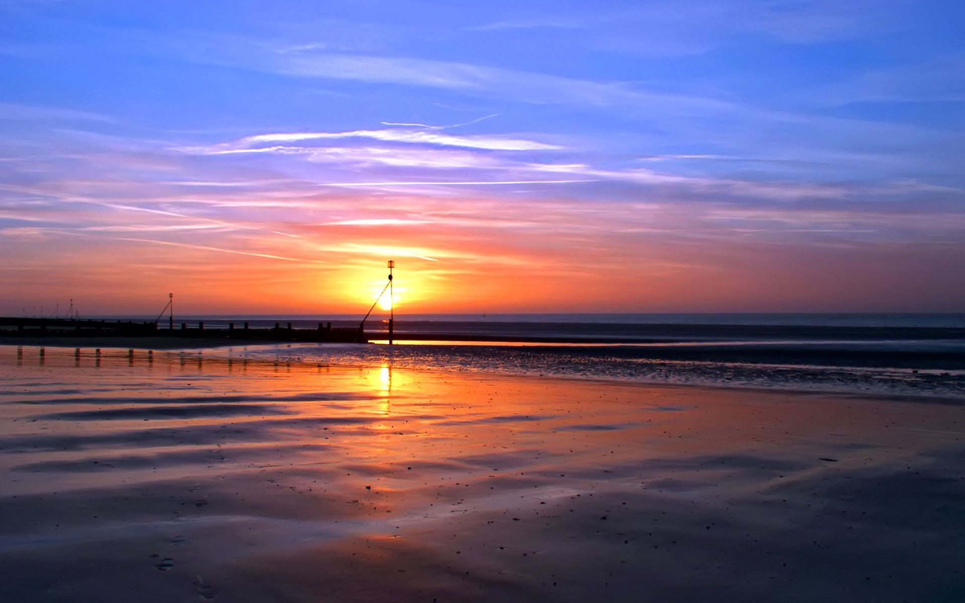 beach sunset wallpaper 1920×1200 Beach Sunset Wallpaper (46 Wallpapers)    Adorable Wallpapers