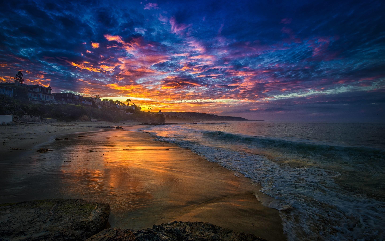 Free Beach Sunset Wallpaper 28812 px