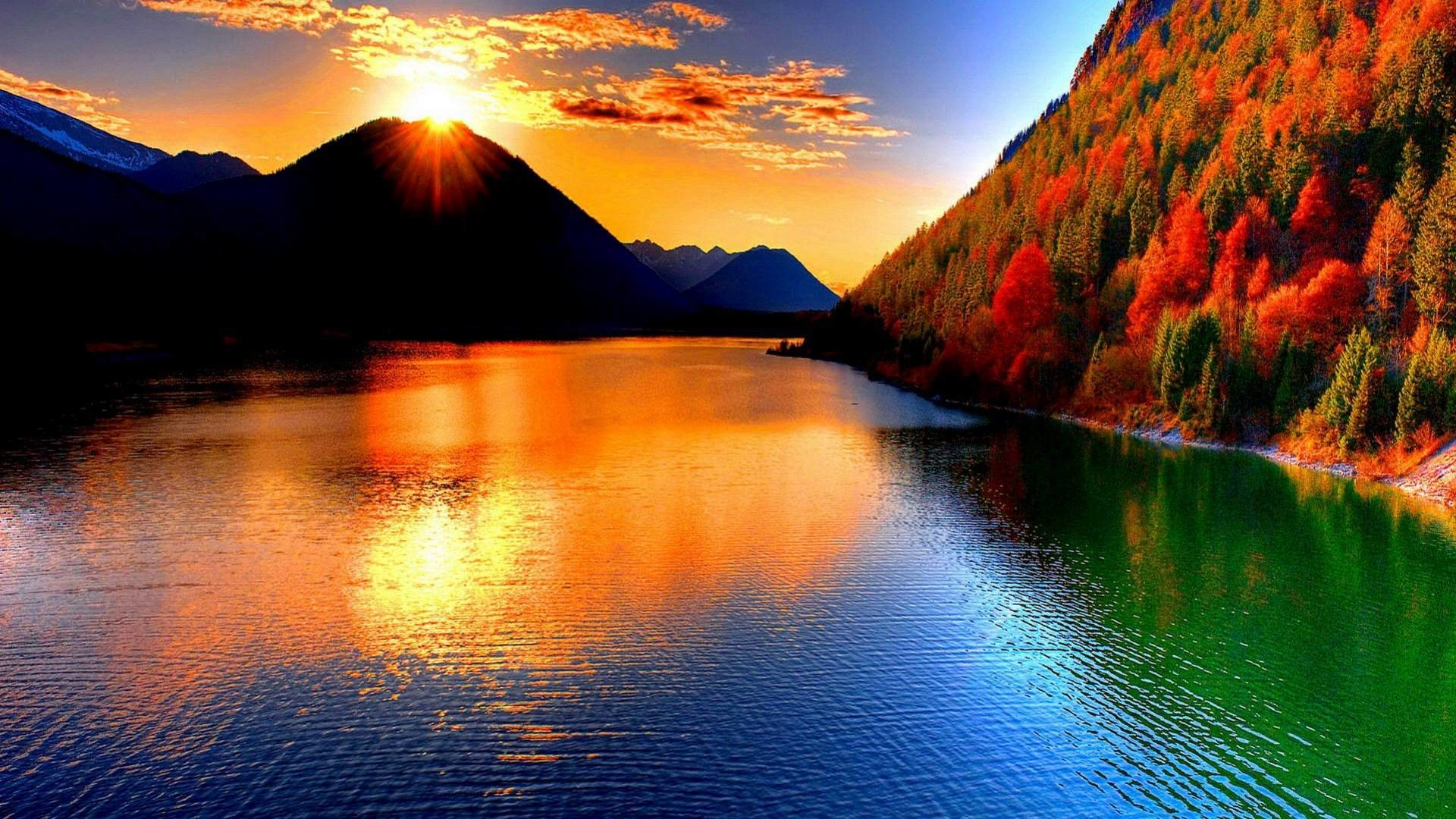 """Search Results for """"beautiful sunset mountain wallpapers"""" – Adorable  Wallpapers"""