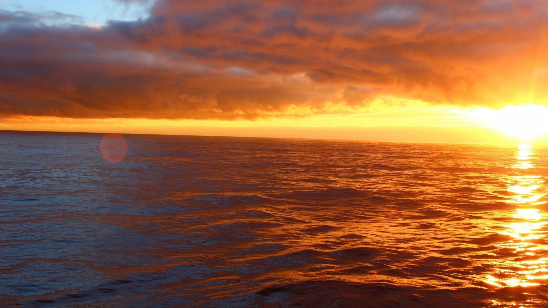Ocean Sunset Desktop Wallpapers