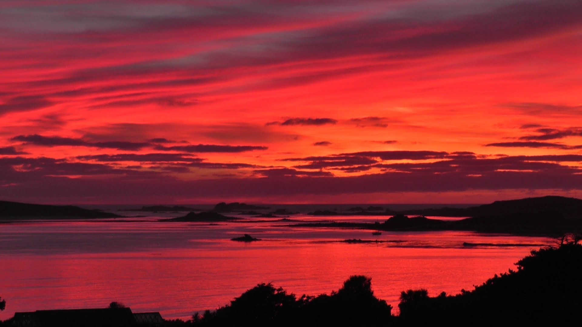 The Most Beautiful Sunset and Red Sky in The World Ever – Isles of Scilly –  YouTube