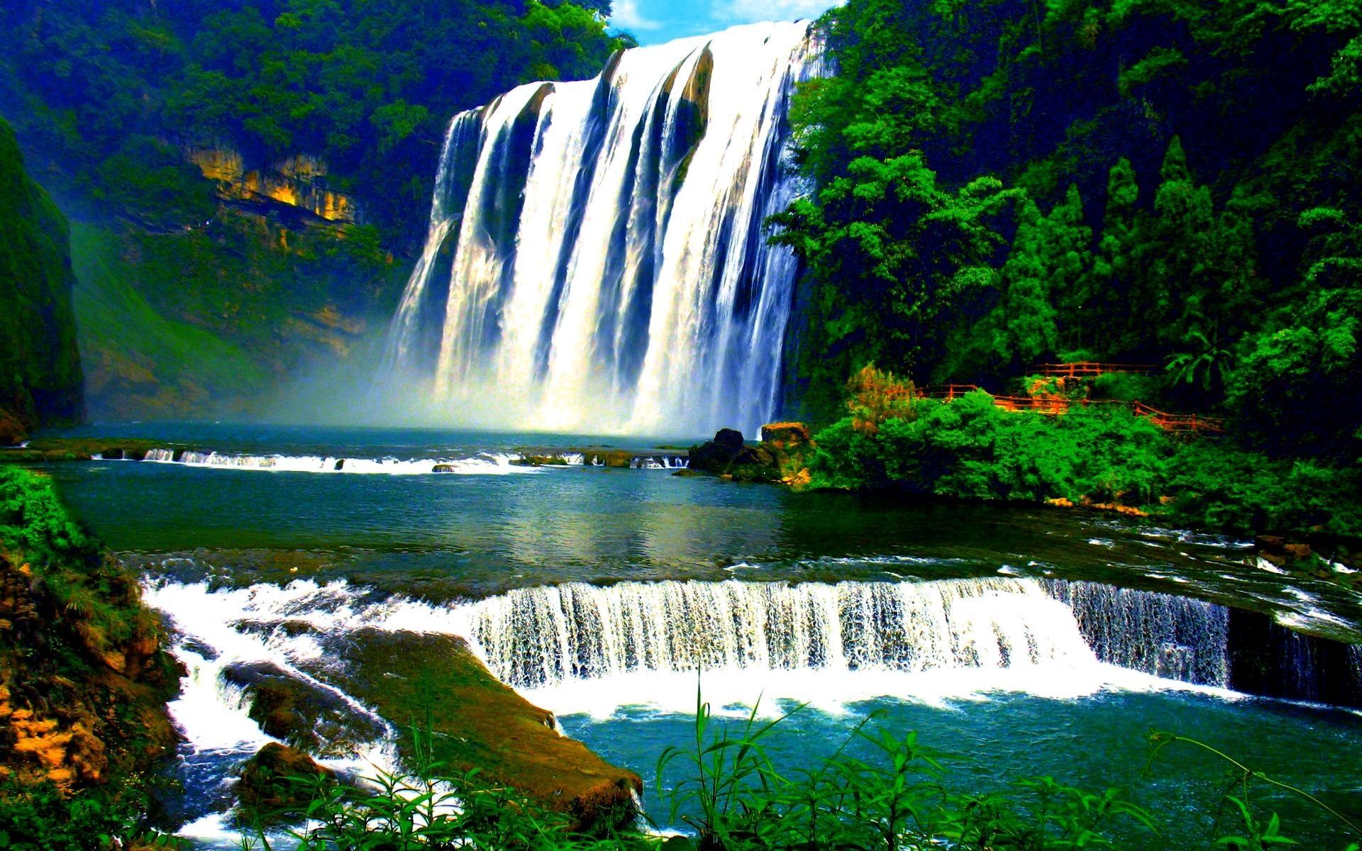Rain Forest Waterfalls Wallpaper
