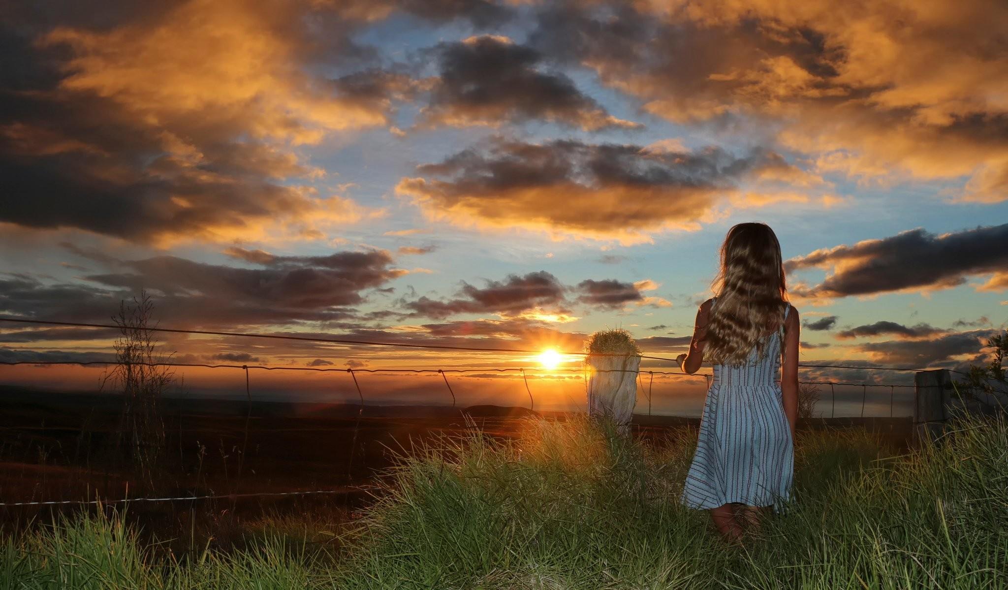 summer sunset summer sunset girl