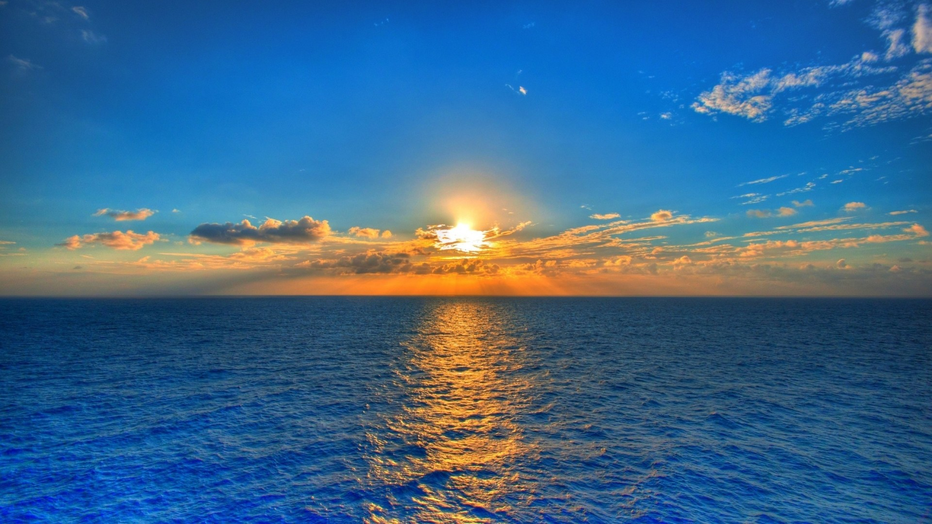 Sunset On Blue Sea Water Wallpapers – – 927239