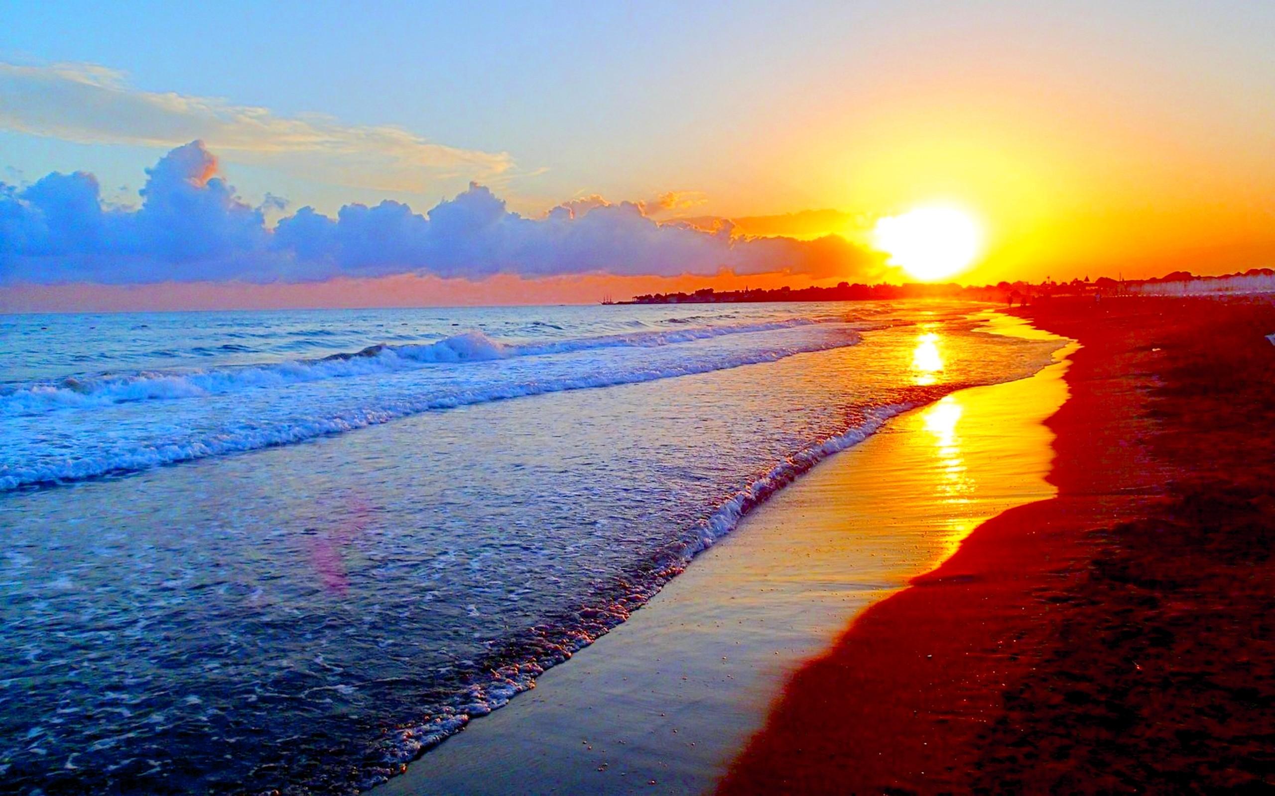 Summer Sunset Wide Desktop Background
