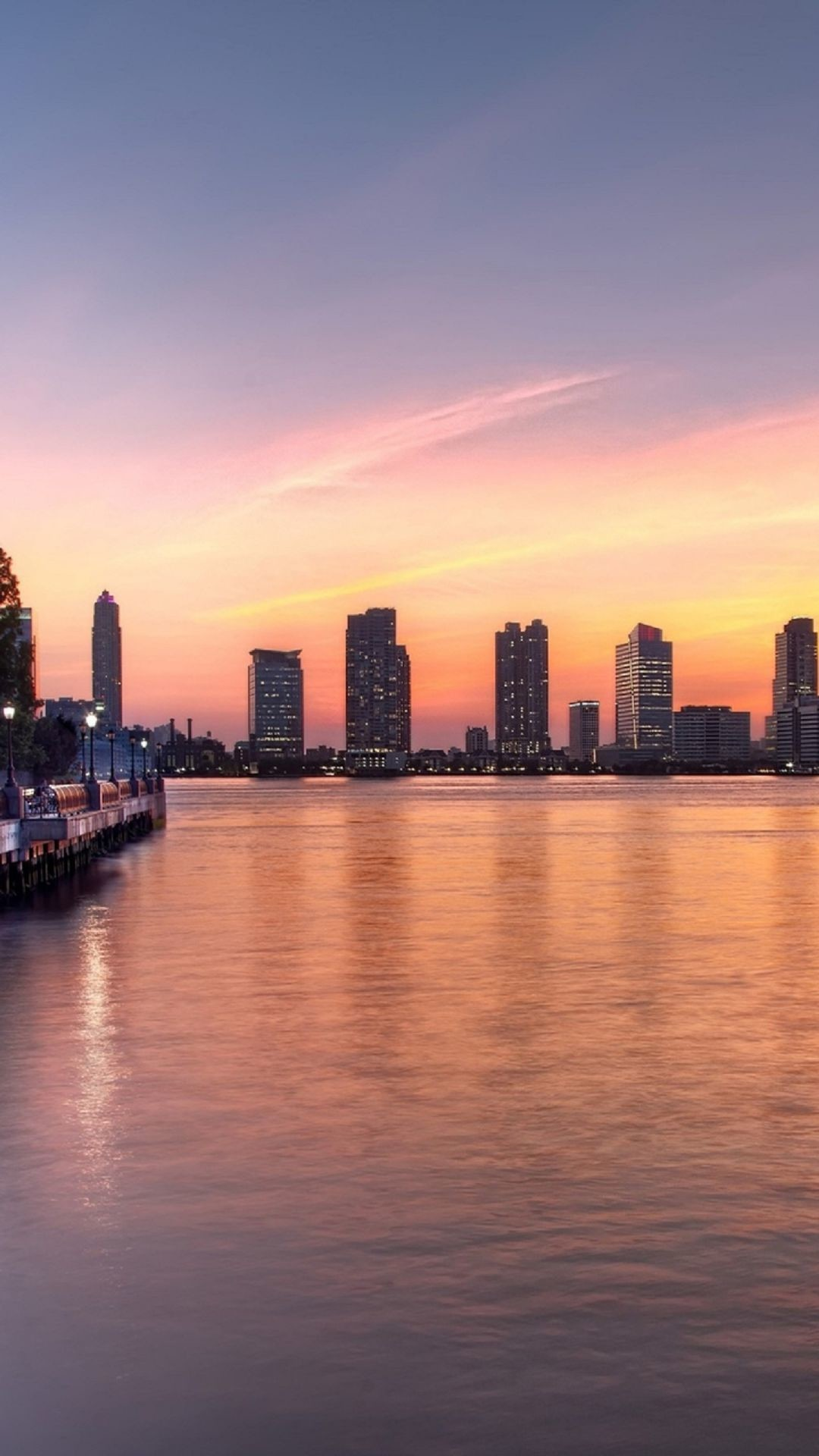 Summer Sunset In New York iPhone 6 Plus HD Wallpaper …