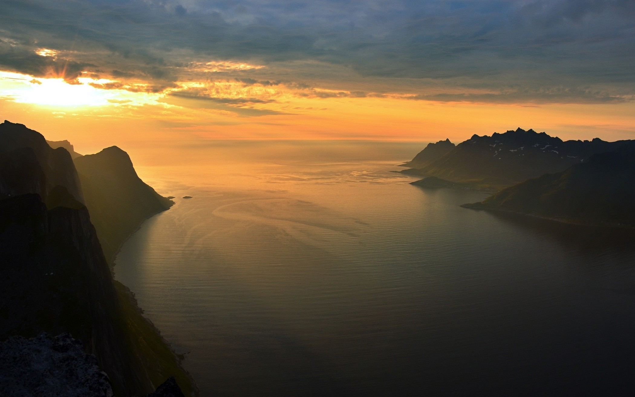 nature, Landscape, Summer, Sunset, Island, Fjord, Mountain, Sky, Clouds,  Sea, Norway Wallpapers HD / Desktop and Mobile Backgrounds