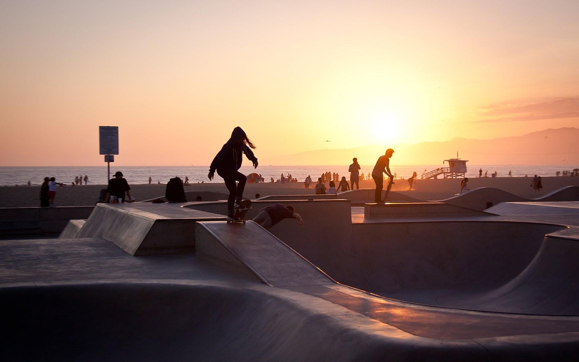 skater venice beach summer sunset la los angeles california usa