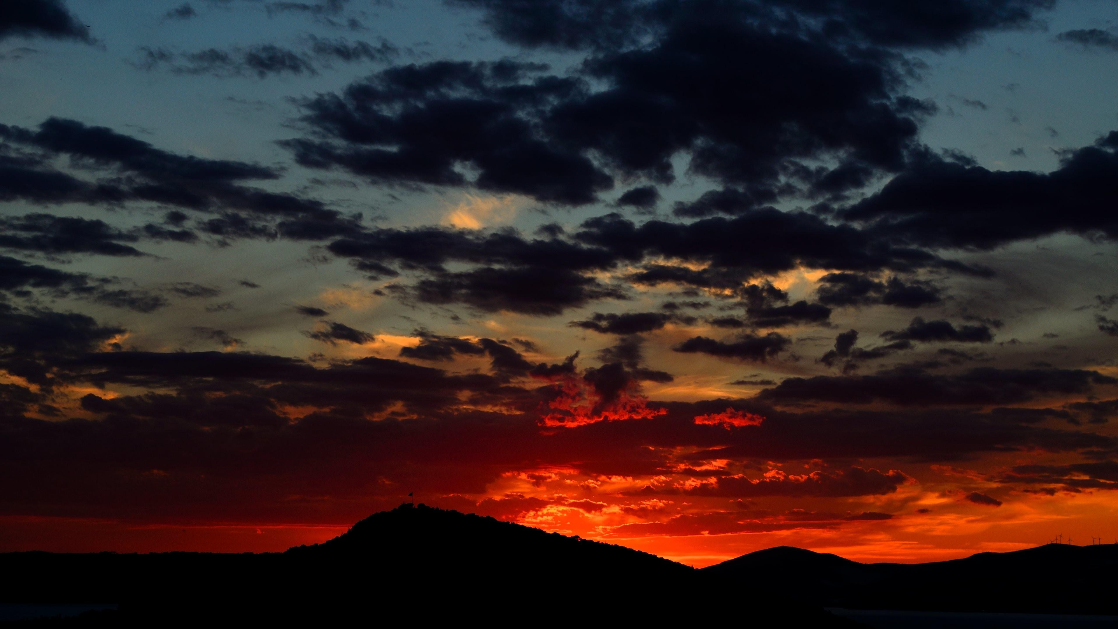 Wallpaper: Late Summer sunset colors. Ultra HD 4K 3840×2160