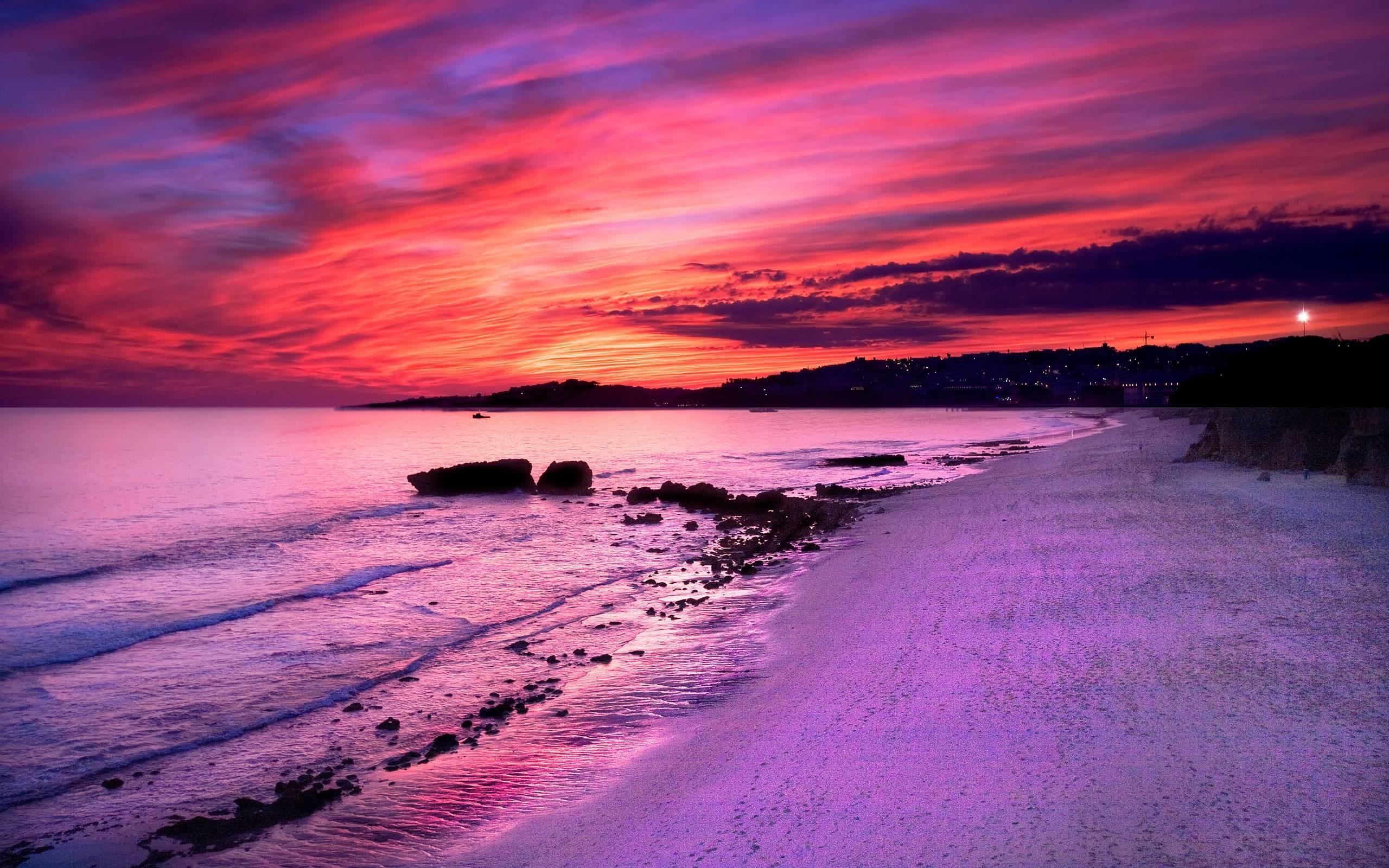 Purple Sunset Wallpapers Wallpaper