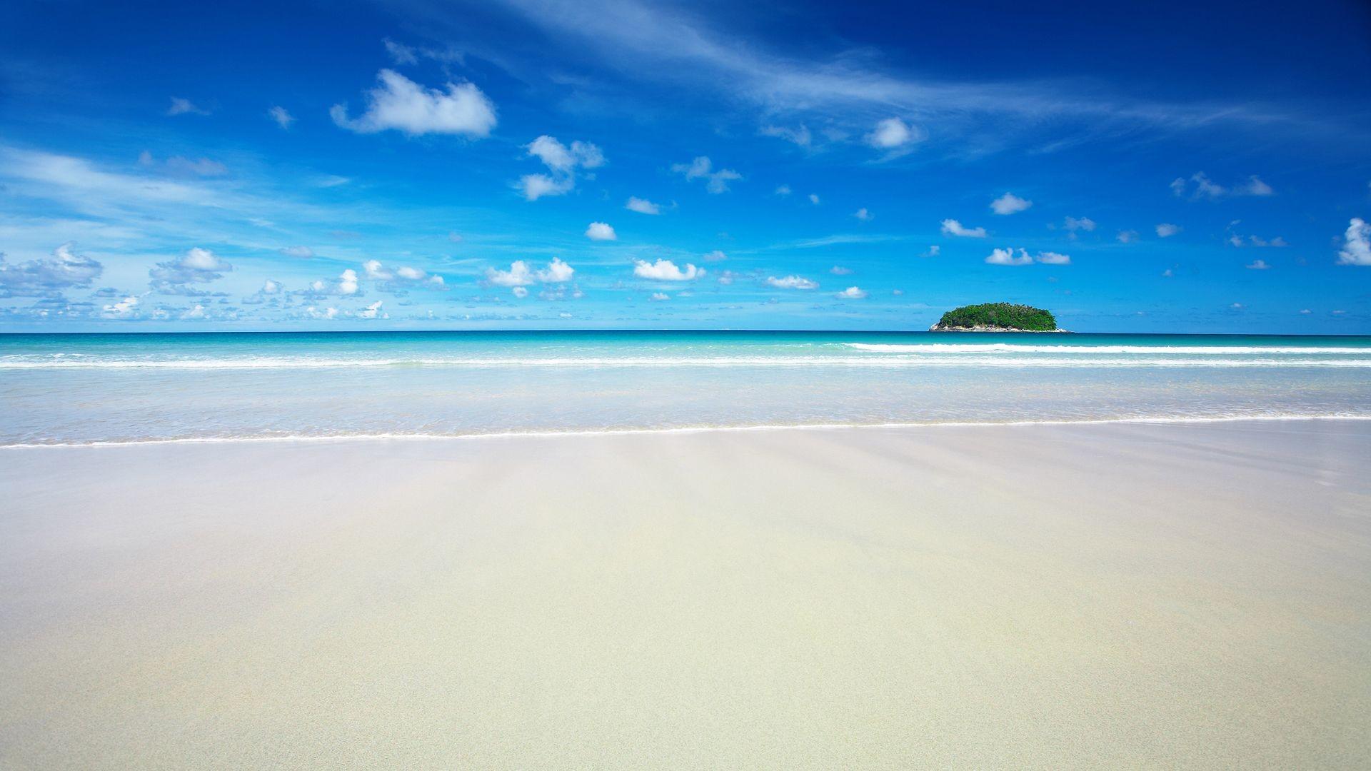 HD Sky Blue Beach