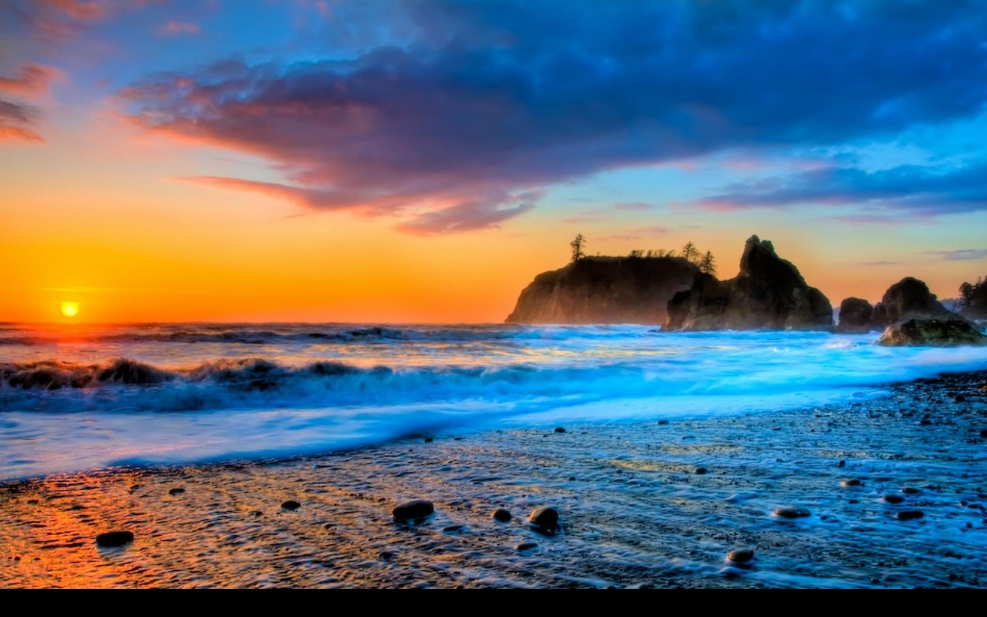 Sunset Beach Wallpaper HD Widescreen