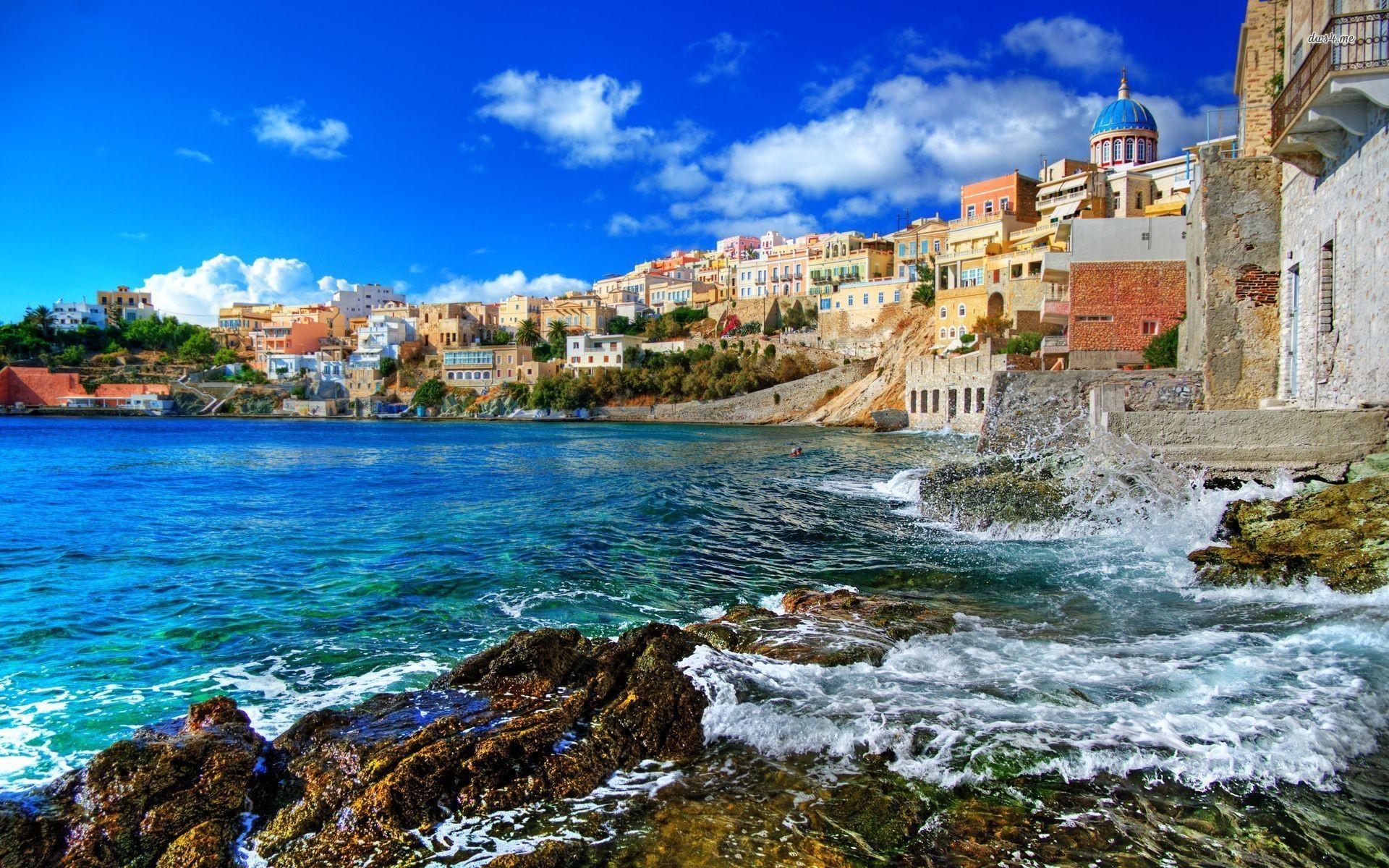 Greece Beach Wallpapers Wide As Wallpaper HD