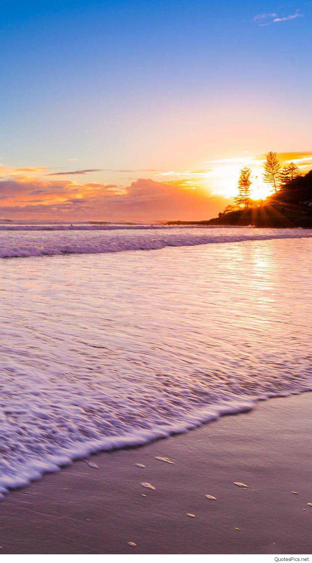 Sunset-At-The-Beach-iphone-6-wallpaper-ilikewallpaper_com