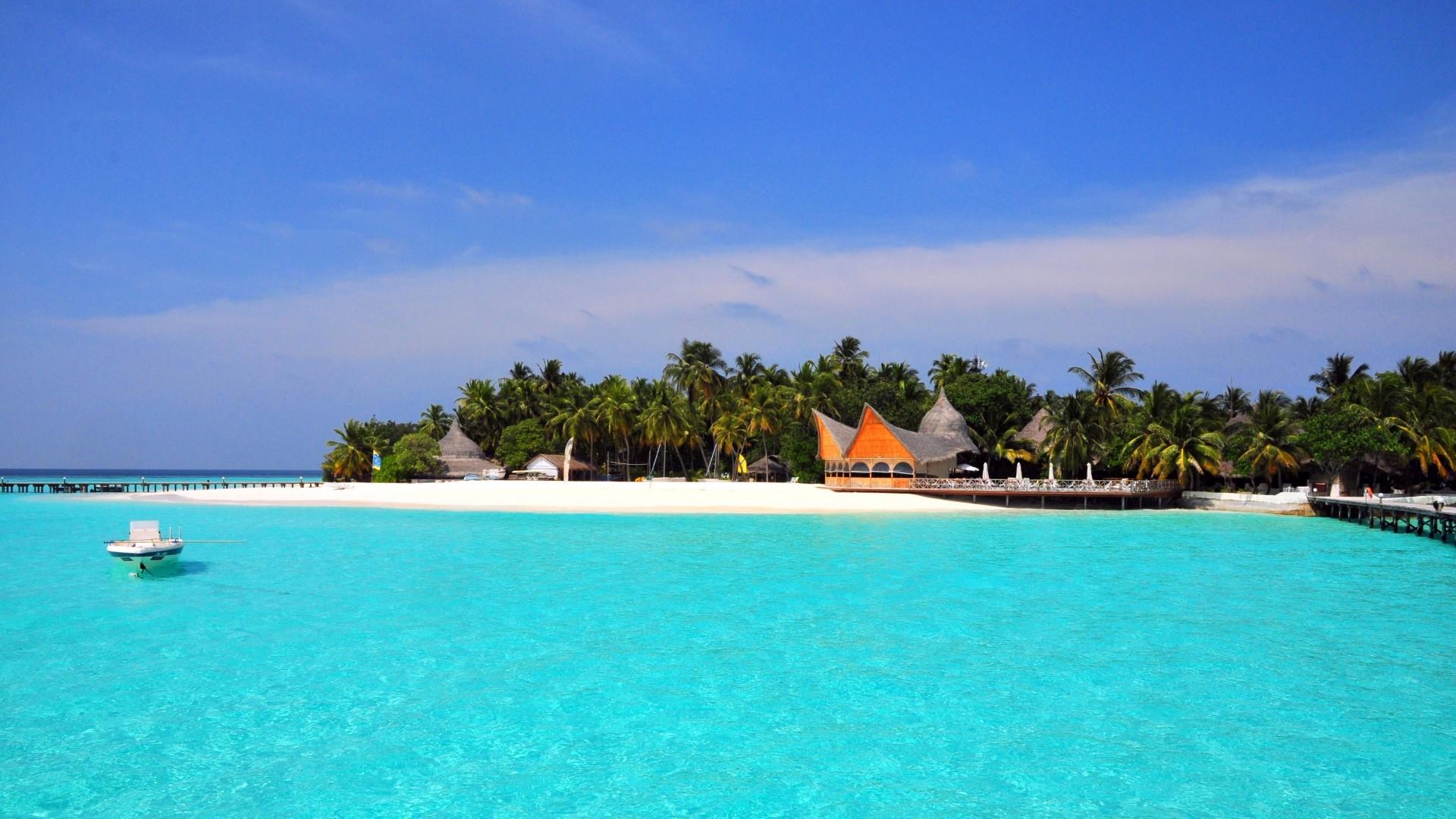 maldives tropical beach island hd wallpaper