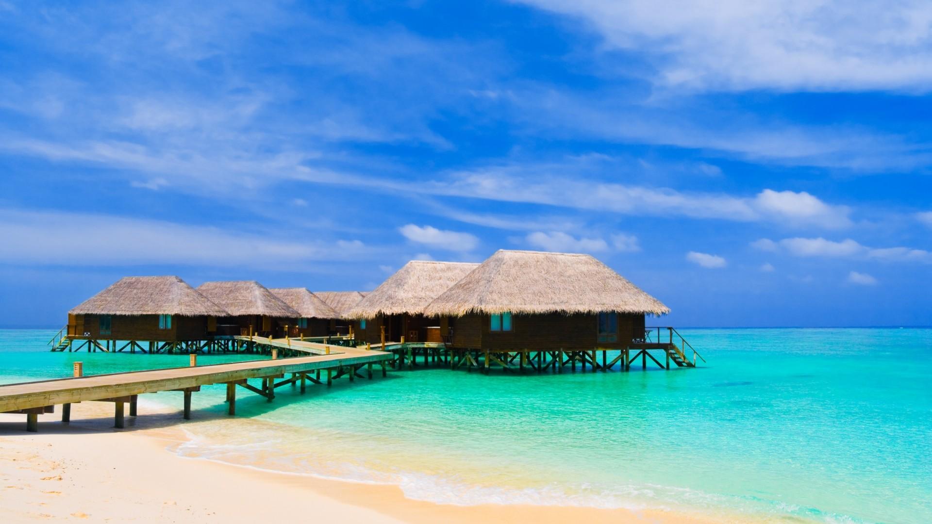 Preview wallpaper maldives, tropical, beach, sky 1920×1080
