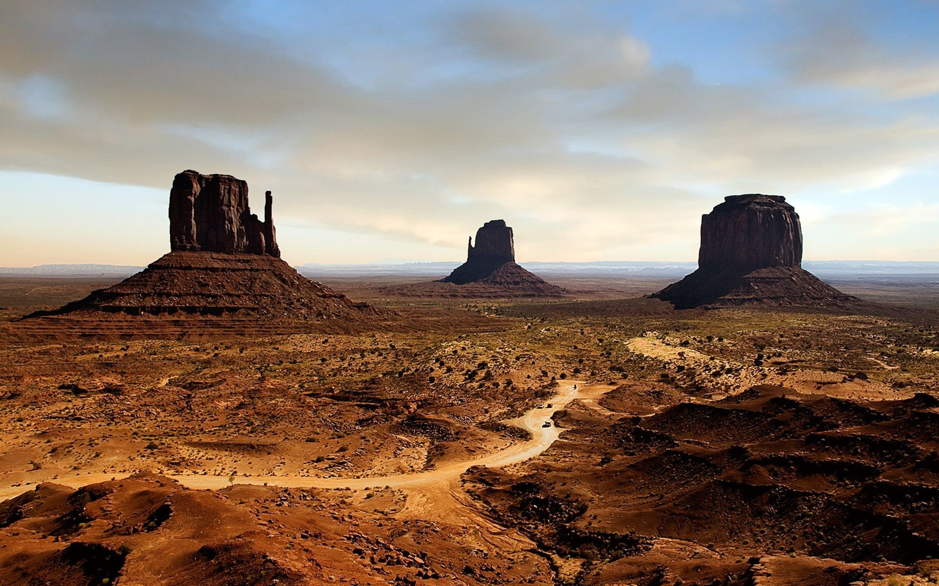 Arizona Desert Sunset Mountains   WallpaperCow.com