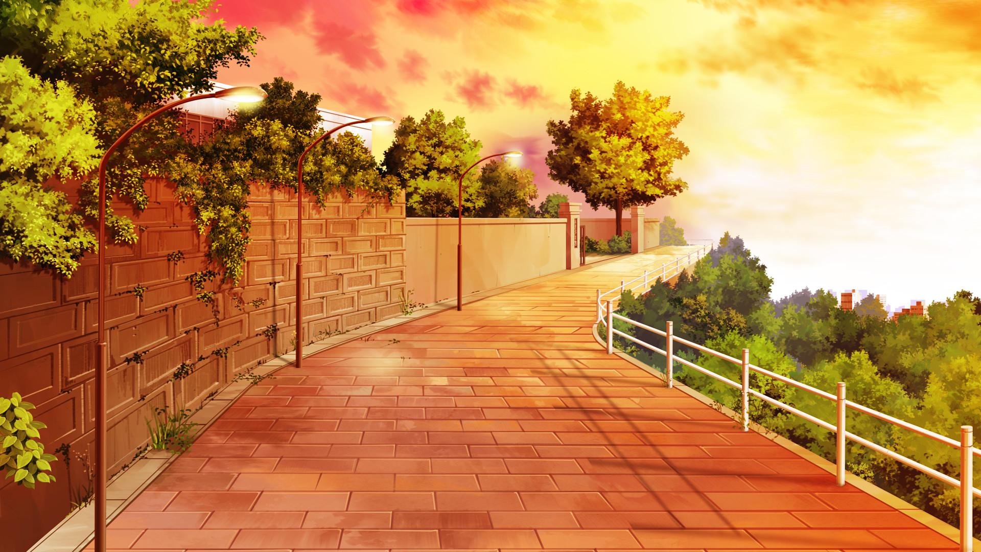 Anime City Scenery Wallpaper Widescreen 2 HD Wallpapers