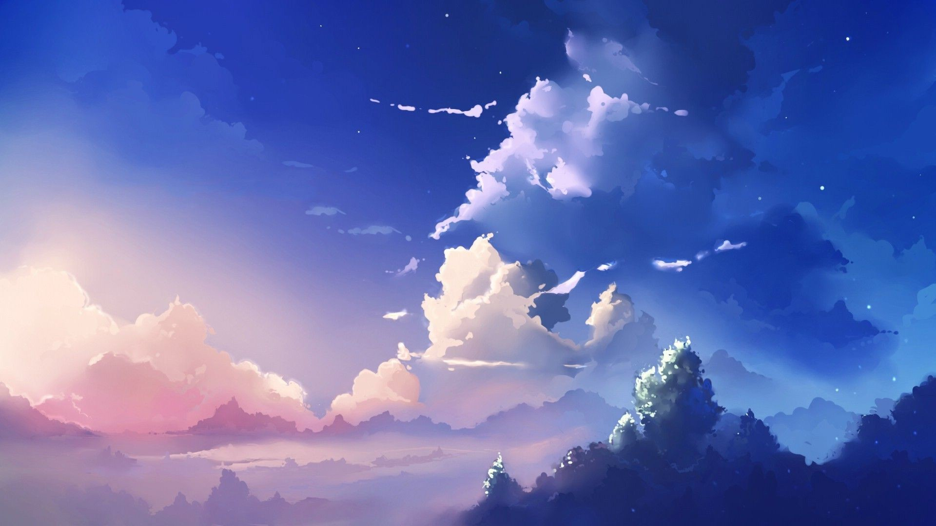 Anime Sky Scenery, Cloud Scenery 05