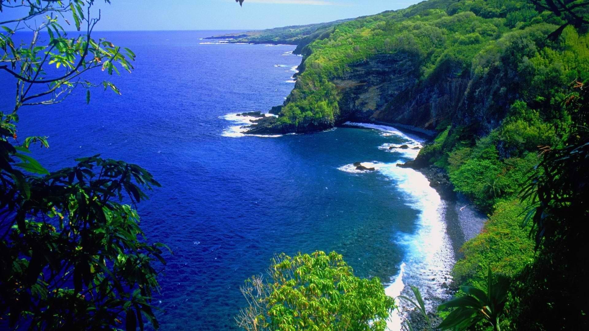World Hawaii Wallpaper World, Hawaii, Maui, The, Road, End