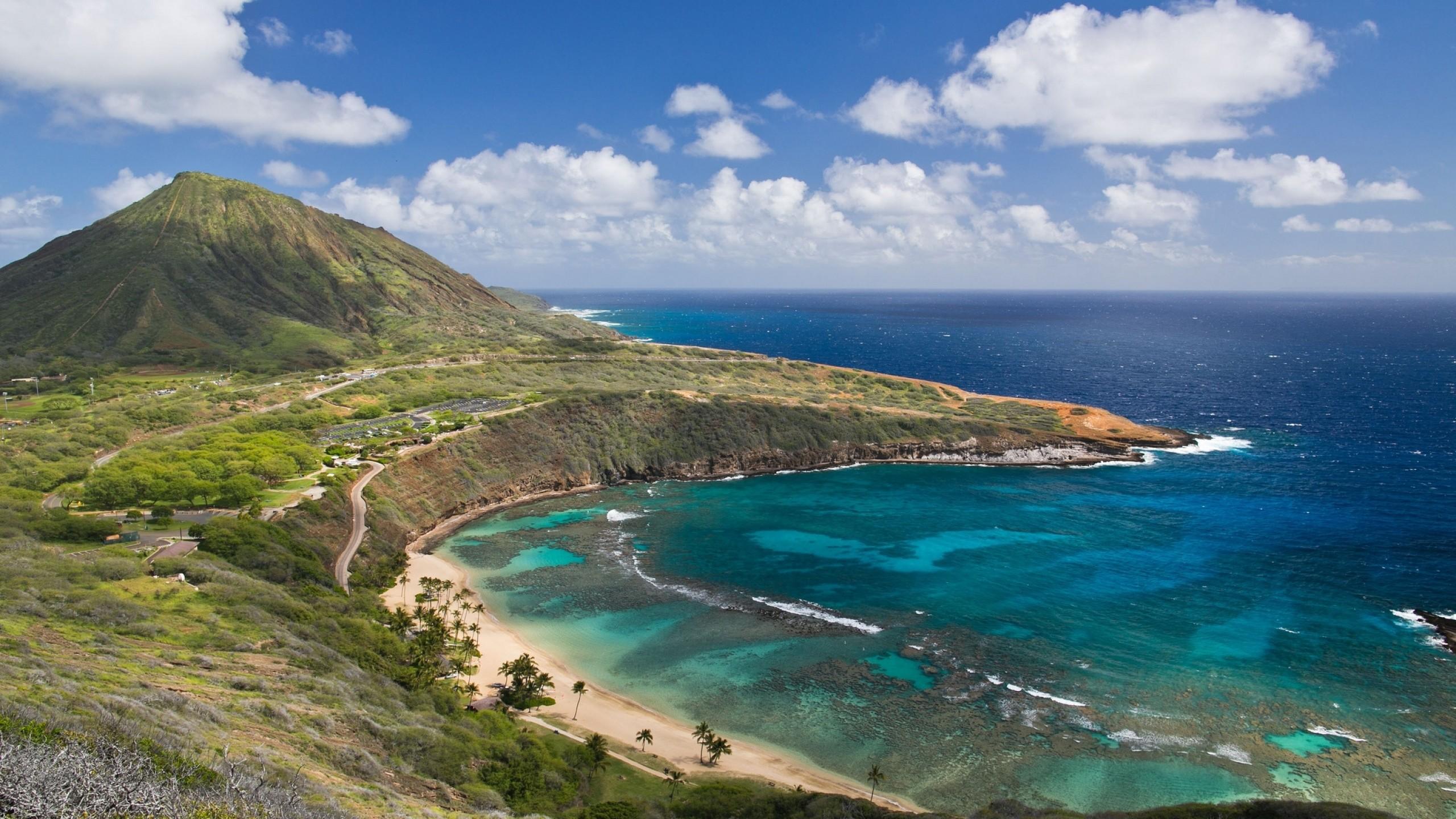 Preview wallpaper hanauma bay, oahu island, hawai, oahu, hawaii, mountain,