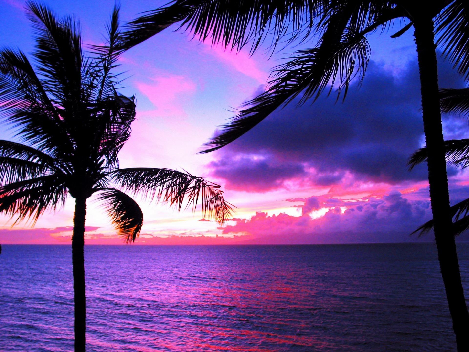 Hawaii Sunset Desktop Wallpaper 16294 Full HD Wallpaper Desktop .