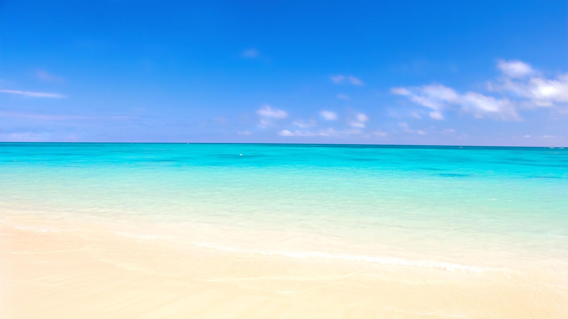 Preview wallpaper ocean, sand, beach 1920×1080