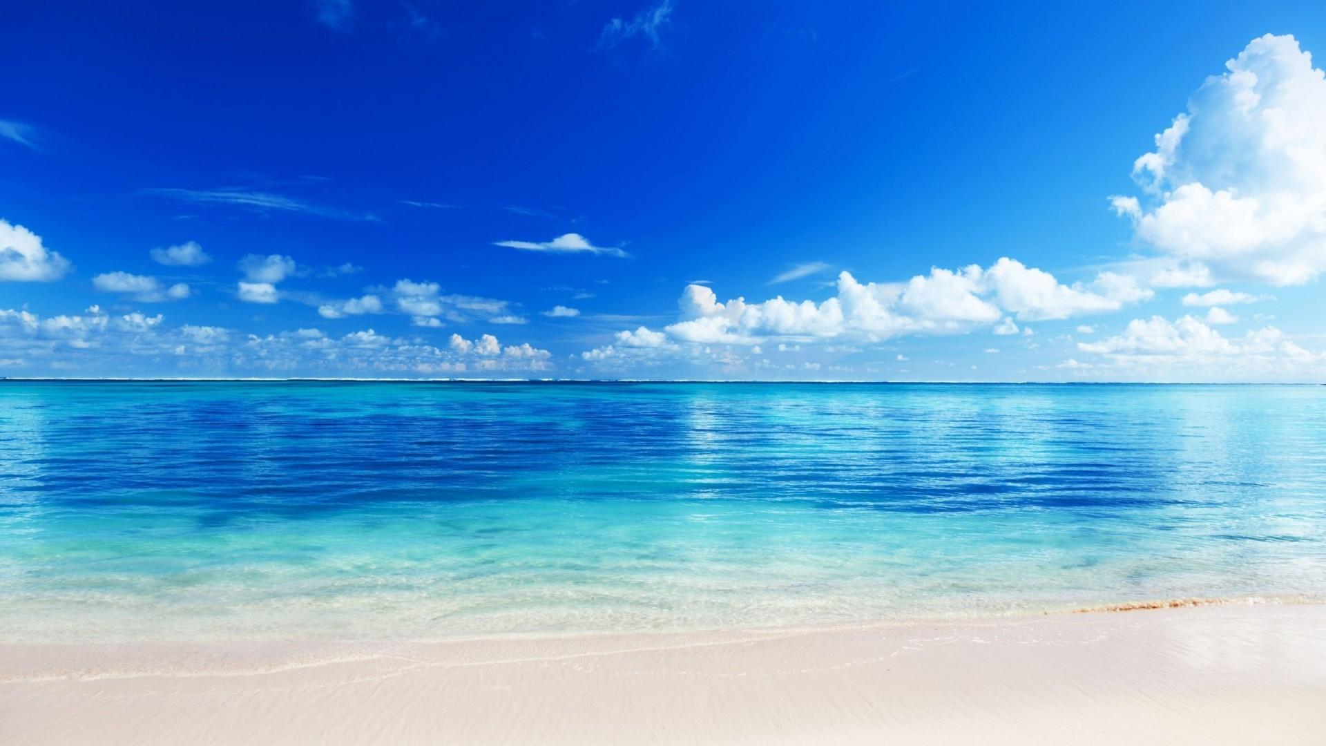 Wallpaper sea, beach, horizon, sand, tropics
