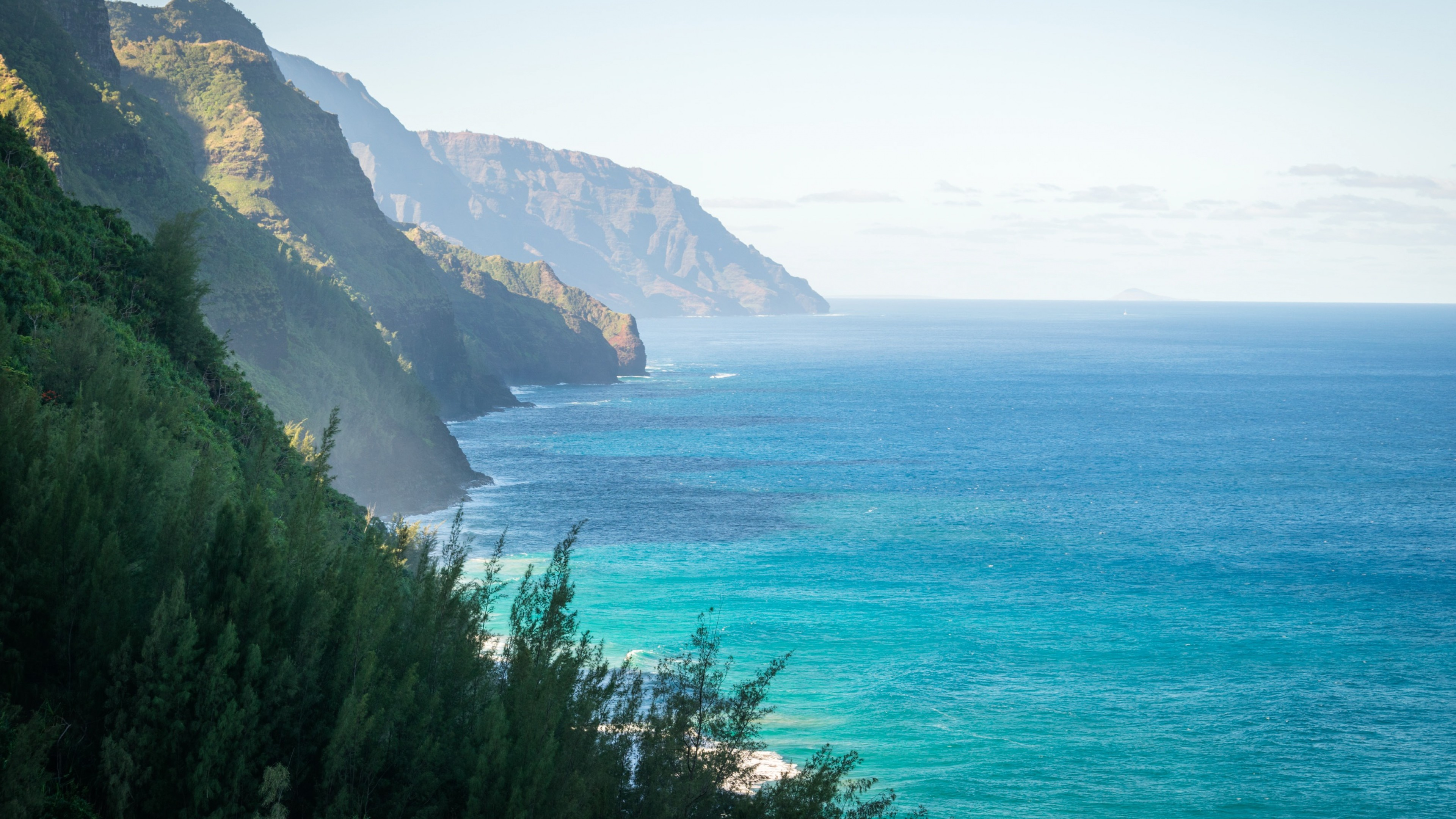 Preview wallpaper hawaii, mountains, ocean 3840×2160