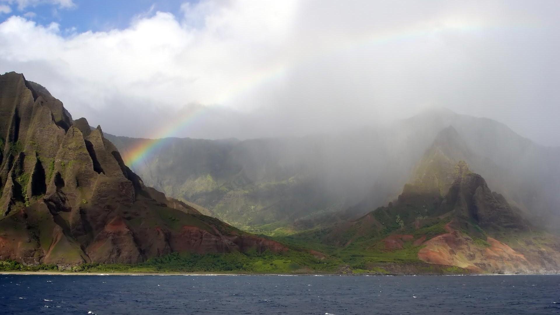 Rainbow at Na Pali Coast, Hawaii wallpaper #1148