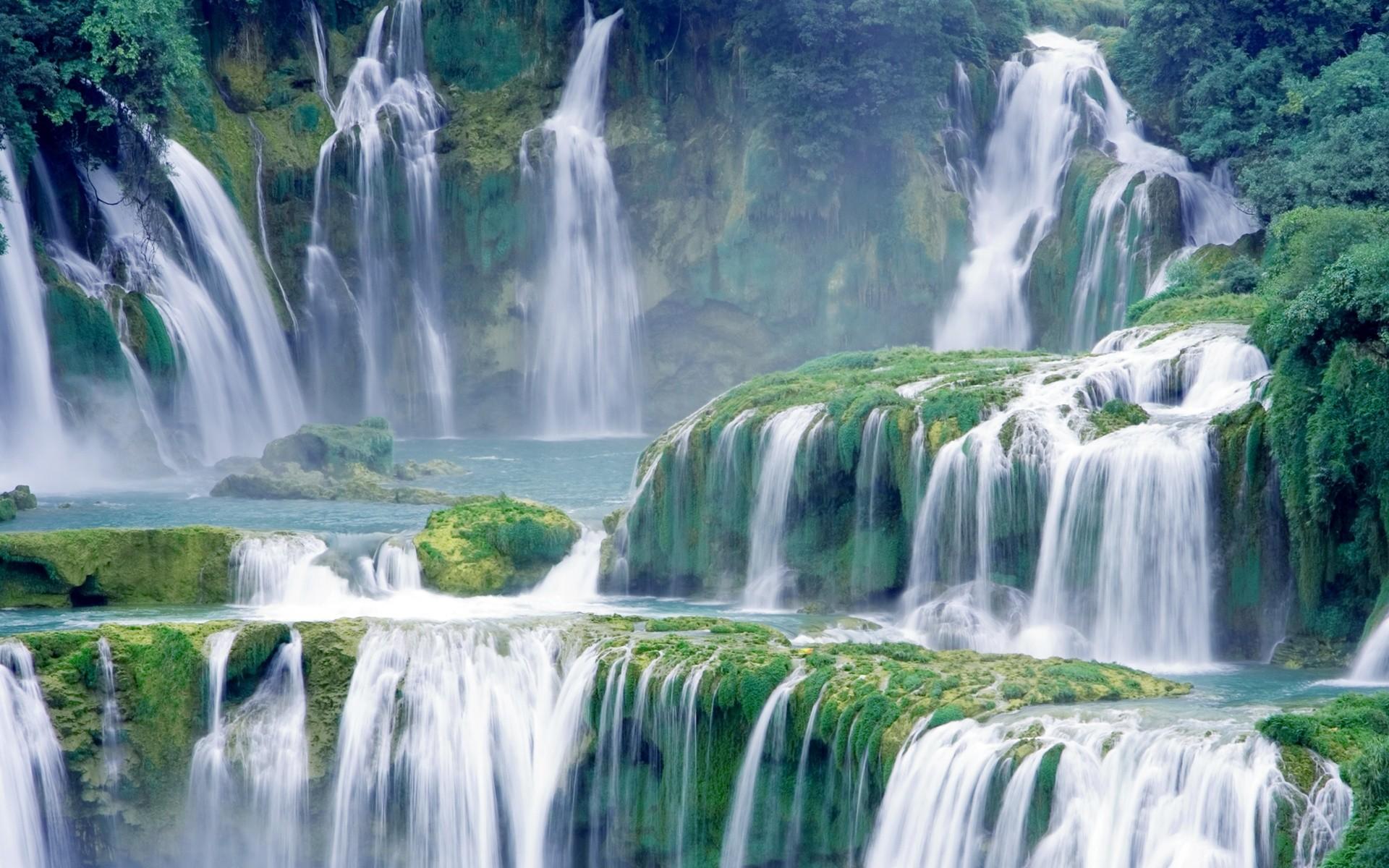 Waterfall | Amazing Green Waterfall wallpaper-Waterfall streams  wallpapers-#406