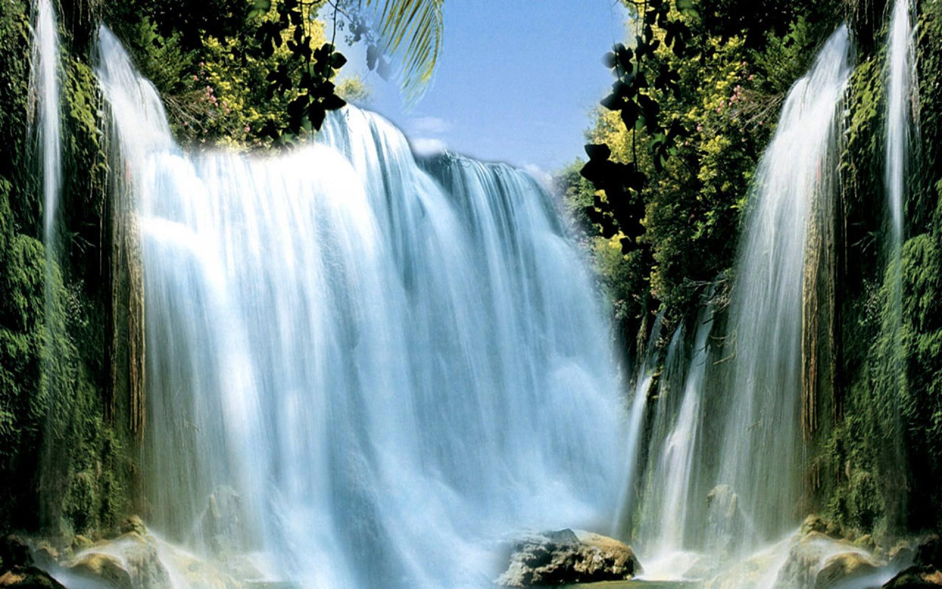 High Waterfall Wallpaper