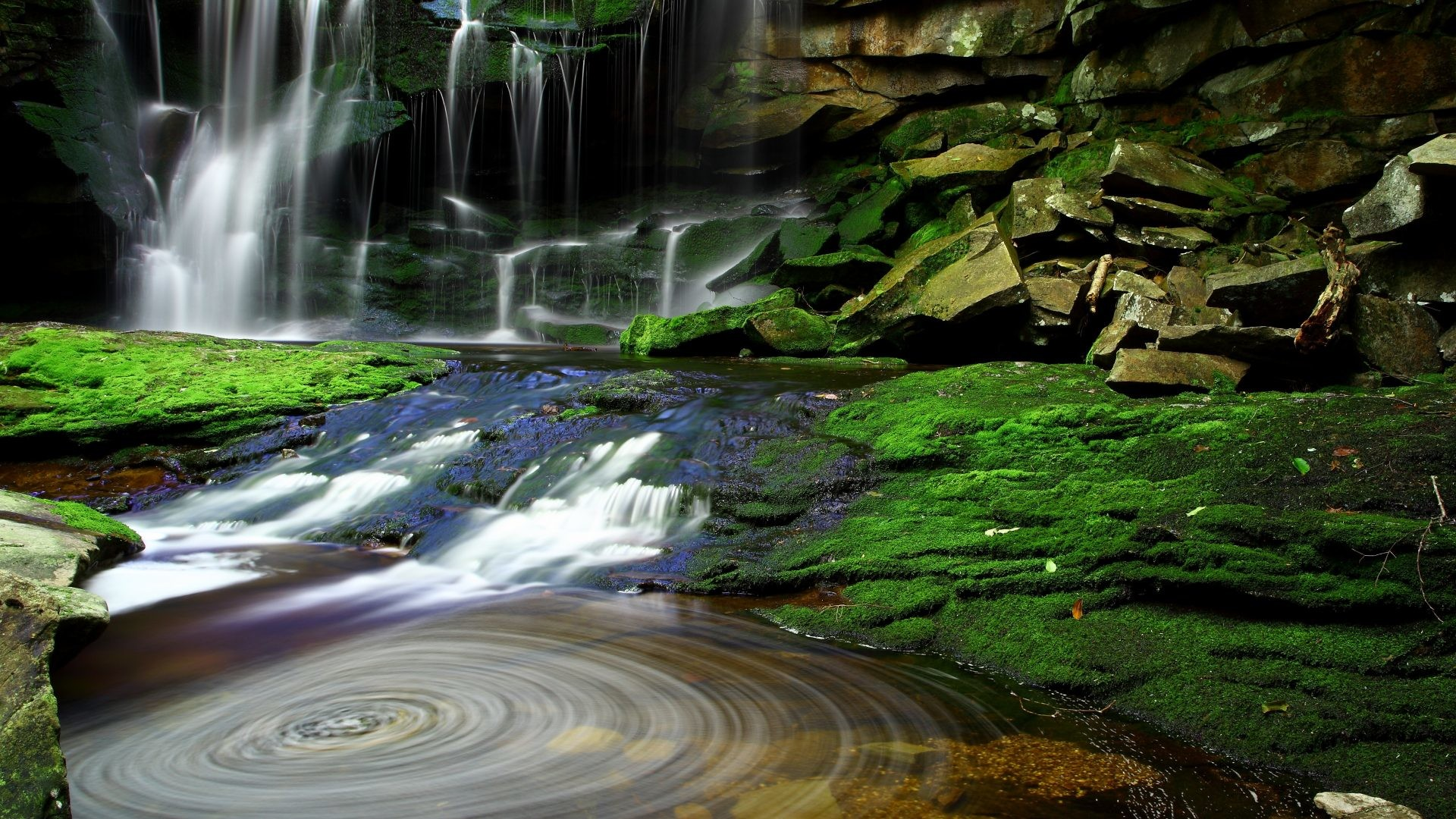 Elakala Tag – Falls Water Green Pool Waterfall Elakala Waterfalls  Rainforest Background for HD 16: